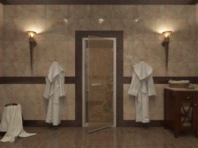 Стеклянные двери для хамама от 14 900